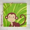Tableau chambre bébé enfant savane, jungle - singe,Tiboubou