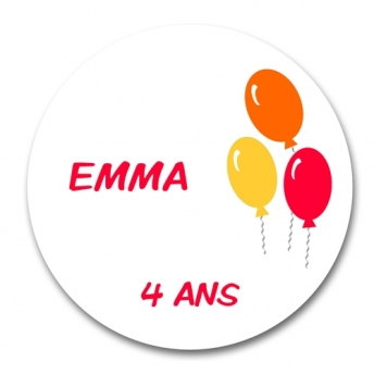 sticker rond BALLONS