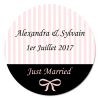 sticker rond Just Married