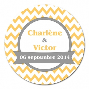 sticker rond CHEVRONS