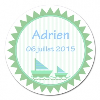 sticker rond Petits Navires