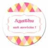 sticker rond Arlequin