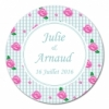 sticker rond Shabby Chic