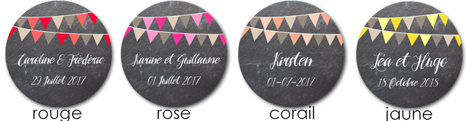 Sticker ardoise rond